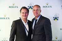 1st November 2019, AccorHotels Arena, Bercy, Paris, France; Rolex Paris Masters tennis tournament;  Eric Collombin ( Manager General Rolex France )and Guy Forget ( Director of the Rolex Paris Masters )