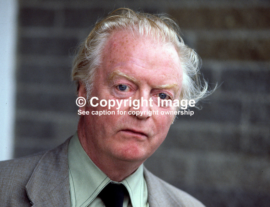 Benedict Kiely, Omagh, Co Tyrone, N Ireland - writer, author, raconteur, broadcaster. Ref: 1979050075...Copyright Image from Victor Patterson, 54 Dorchester Park, Belfast, UK, BT9 6RJ..Tel: +44 28 9066 1296.Mob: +44 7802 353836.Voicemail +44 20 8816 7153.Skype: victorpattersonbelfast.Email: victorpatterson@mac.com.Email: victorpatterson@ireland.com (back-up)..IMPORTANT: If you wish to use this image or any other of my images please go to www.victorpatterson.com and click on the Terms & Conditions. Then contact me by email or phone with the reference number(s) of the image(s) concerned.