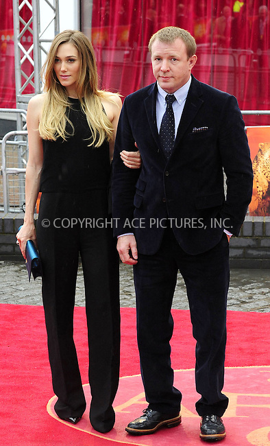 WWW.ACEPIXS.COM . . . . .  ..... . . . . US SALES ONLY . . . . .....April 25 2012, London....Jacqui Ainsley and Guy Ritchie at the premiere of 'African Cats' in aid of Tusk at the BFI Southbank in London ....Please byline: FAMOUS-ACE PICTURES... . . . .  ....Ace Pictures, Inc:  ..Tel: (212) 243-8787..e-mail: info@acepixs.com..web: http://www.acepixs.com