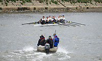 Mortlake/Chiswick, GREATER LONDON. United Kingdom Oxford University Women's Boat  Club, OUWBC vs Molesey BC,  Pre Boat Race Fixture, 2017 Boat Race, The Championship Course, Putney to Mortlake on the River Thames.<br /> <br /> Sunday  19/03/2017<br /> <br /> [Mandatory Credit; Peter SPURRIER/Intersport Images]