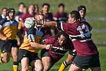 Mika Pamaka manages to get a hand to Cales Browns pass. CMRFU Counties Power Cup Game of the Week between Te Kauwhata & Puni played at Te Kauwhata on Saturday May the 3rd, 2008..Te Kauwhata led 5 - 0 at halftime & went on to win 29 - 0.