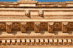 Architecture detail of a carved stone border
