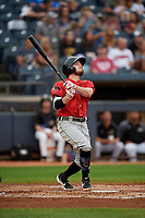Erie SeaWolves Kody Eaves (22) at bat during an Eastern League game against the Akron RubberDucks on August 30, 2019 at Canal Park in Akron, Ohio.  Erie defeated Akron 3-2.  (Mike Janes/Four Seam Images)