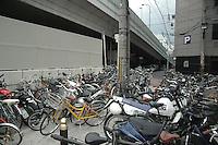 Fahräder und Mopeds, Verkehr, Traffic,Japan, Bikes,