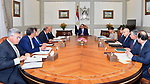 Egyptian President Abdel Fattah al-Sisi meets with Prime Minister Sharif Ismail in Cairo, Egypt, on October 16, 2017. Photo by Egyptian President Office