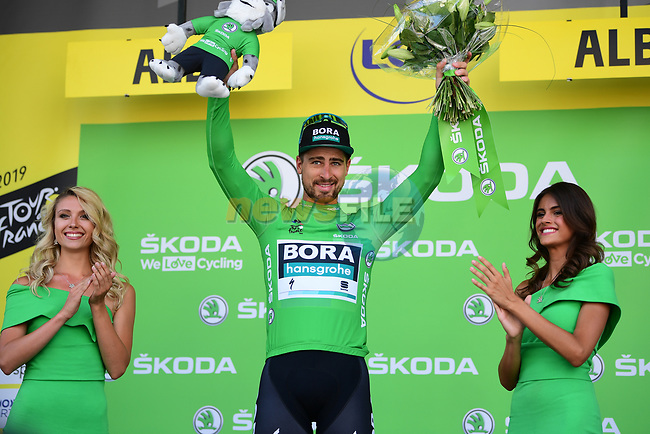 Peter Sagan (SVK) Bora-Hansgrohe retains the points Green Jersey at the end of Stage 10 of the 2019 Tour de France running 217.5km from Saint-Flour to Albi, France. 15th July 2019.<br /> Picture: ASO/Pauline Ballet | Cyclefile<br /> All photos usage must carry mandatory copyright credit (© Cyclefile | ASO/Pauline Ballet)