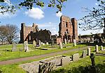Ruins of Lindisfarne Priory, Holy Island, Northumberland, England, UK