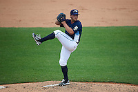 West Michigan Whitecaps pitcher Nate Fury (19) delivers a pitch during a game against the Cedar Rapids Kernels on June 7, 2015 at Fifth Third Ballpark in Comstock Park, Michigan.  West Michigan defeated Cedar Rapids 6-2.  (Mike Janes/Four Seam Images)