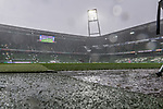 02.11.2019, wohninvest WESERSTADION, Bremen, GER, 1.FBL, Werder Bremen vs SC Freiburg<br /> <br /> DFL REGULATIONS PROHIBIT ANY USE OF PHOTOGRAPHS AS IMAGE SEQUENCES AND/OR QUASI-VIDEO.<br /> <br /> im Bild / picture shows<br /> dunkle Wolken / Regenschauer über dem Stadion, <br /> <br /> Foto © nordphoto / Ewert