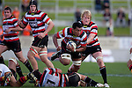 Viliami Fihaki steps over Mark Selwyn. ITM Cup rugby game between Waikato and Counties Manukau, played at Waikato Stadium, Hamilton on Saturday 28th August 2010..Waikato won 39 - 3.