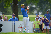 Rafael Cabrera Bello (ESP) watches his tee shot on 9 during 4th round of the World Golf Championships - Bridgestone Invitational, at the Firestone Country Club, Akron, Ohio. 8/5/2018.<br /> Picture: Golffile | Ken Murray<br /> <br /> <br /> All photo usage must carry mandatory copyright credit (© Golffile | Ken Murray)