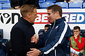 9th September 2017, Macron Stadium, Bolton, England; EFL Championship football, Bolton Wanderers versus Middlesbrough; Bolton Wanderers manager Phil Parkinson before the game greets Middlesbrough head coach Garry Monk