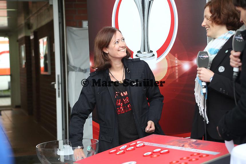 Renate Lingor bei der Auslosung zum DFB-Pokal der Frauen - 1. FFC Frankfurt vs. Bayer 04 Leverkusen