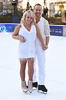 """Cheryl Baker and Dan Whiston<br /> at the """"Dancing on Ice"""" launch photocall, natural History Museum, London<br /> <br /> <br /> ©Ash Knotek  D3365  19/12/2017"""