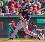 4 March 2013: Minnesota Twins outfielder Clete Thomas in action during a Spring Training game against the St. Louis Cardinals at Roger Dean Stadium in Jupiter, Florida. The Twins shut out the Cardinals 7-0 in Grapefruit League play. Mandatory Credit: Ed Wolfstein Photo *** RAW (NEF) Image File Available ***