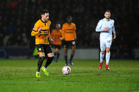 Robbie Willmott of Newport County in action during the FA Cup Fourth Round Replay match between Newport County and Middlesbrough at Rodney Parade in Newport, Wales, UK. Tuesday 05 February 2019
