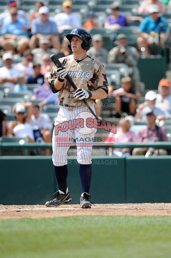 Trenton Thunder infielder David Adams (35) during game against the Altoona Curve at Samuel L. Plumeri Sr. Field at Mercer County Waterfront Park on August 22, 2012 in Trenton, NJ.  Altoona defeated Trenton 14-2.  Tomasso DeRosa/Four Seam Images