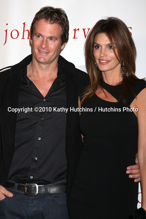 "Rande Gerber & Cindy Crawford.arriving at the ""We're All Fans"" Event.John Varvatos Store.Los Angeles, CA.January 28, 2010.©2010 Kathy Hutchins / Hutchins Photo...."