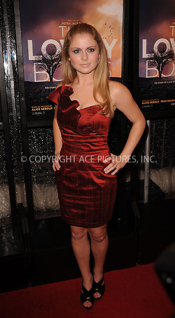 WWW.ACEPIXS.COM . . . . . ....December 2 2009, New York City....Actress Rose McIver arriving at the 'The Lovely Bones' premiere at the Paris Theatre on December 2, 2009 in New York City.....Please byline: KRISTIN CALLAHAN - ACEPIXS.COM.. . . . . . ..Ace Pictures, Inc:  ..(212) 243-8787 or (646) 679 0430..e-mail: picturedesk@acepixs.com..web: http://www.acepixs.com