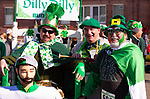 WATERTOWN,  CT-030919JS15--Ted Spillane of Watertown; Bill DeLauretis of Watertown and Tom Spillane of Waterbury, at the 8th annual Watertown Shamrock Shuffle Road Race at Polk Elementary School in Watertown. This year, proceeds from the event will benefit the Water-Oak Circle of Sports.<br /> Jim Shannon Republican American