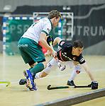 Almere - Zaalhockey  Amsterdam-Rotterdam (m)  . Wiegert Schut (Adam) met Sijbrand Bolhuis  TopsportCentrum Almere.    COPYRIGHT KOEN SUYK