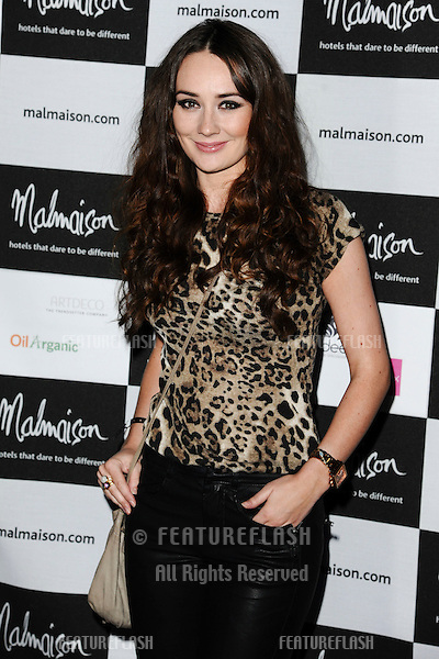 Claire Cooper arrives for the Malmaison Hotel Liverpool re-opening party...23/09/2011  Picture by Steve Vas/Featureflash