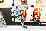 Stockholm 2014-03-05 Bandy SM-semifinal 3 Hammarby IF - V&auml;ster&aring;s SK :  <br /> V&auml;ster&aring;s Tobias Holmberg jublar efter att ha reducerat till 3-4 i den andra halvleken<br /> (Foto: Kenta J&ouml;nsson) Nyckelord:  VSK Bajen HIF jubel gl&auml;dje lycka glad happy