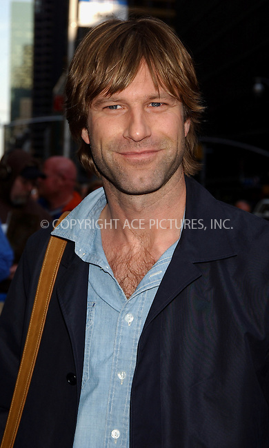 WWW.ACEPIXS.COM . . . . .  ....NEW YORK, APRIL 11, 2006....Aaron Eckhart makes a guest apperance at the Late Show with David Letterman.....Please byline: AJ Sokalner - ACEPIXS.COM.... *** ***..Ace Pictures, Inc:  ..Philip Vaughan (212) 243-8787 or (646) 769 0430..e-mail: info@acepixs.com..web: http://www.acepixs.com