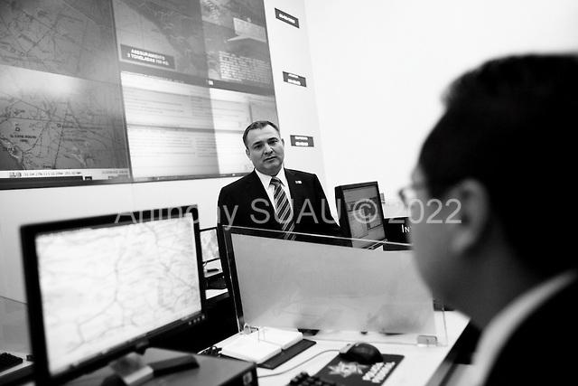 Mexico City, Mexico<br /> June 20, 2008<br /> <br /> Secretary of Public Security Genaro Garcia Luna at the headquarters of the Federal police in Mexico City.