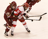 Caroline Ross (BC - 25), Sammy Davis (BU - 16) - The Boston College Eagles defeated the Boston University Terriers 3-2 in the first round of the Beanpot on Monday, January 31, 2017, at Matthews Arena in Boston, Massachusetts.