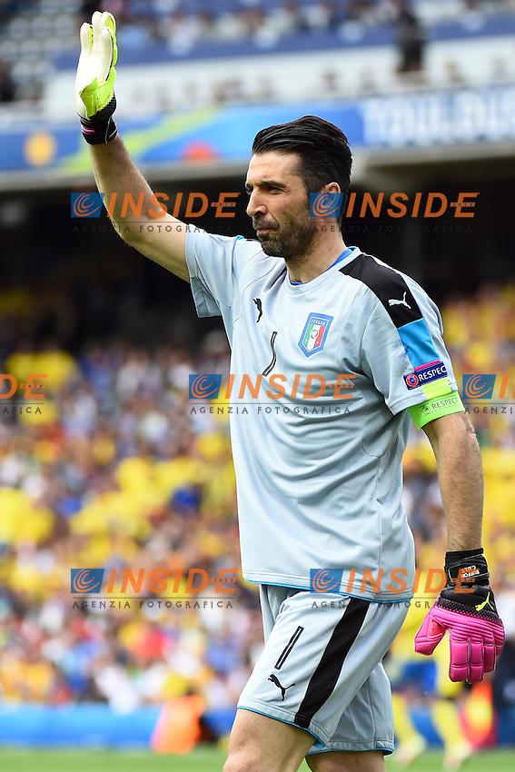 Gianluigi Buffon <br /> Tolouse 17-06-2016 Stade Municipal<br /> Football Euro2016 Italy - Sweden / Italia - Svezia<br /> Group Stage Group E<br /> Foto Massimo Insabato / Insidefoto