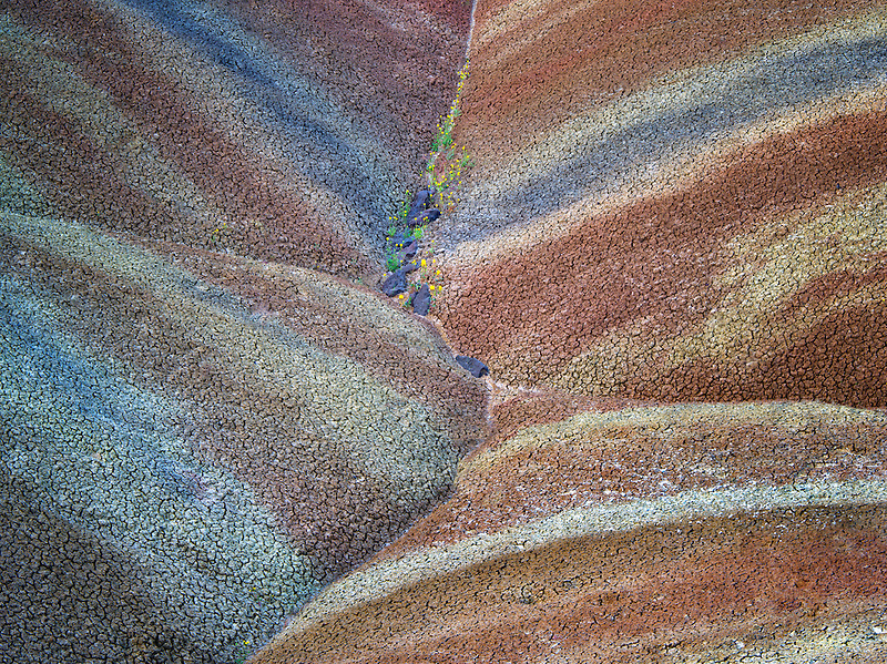 Close up of Painted Hills. John Day Fossil Beds National Monument. Oregon