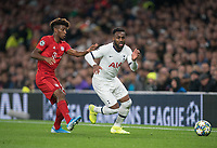 Danny Rose of Spurs & Kingsley Coman of Bayern Munich during the UEFA Champions League group match between Tottenham Hotspur and Bayern Munich at Wembley Stadium, London, England on 1 October 2019. Photo by Andy Rowland.