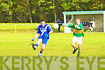 Skellig Ranger's Ronan O'Shea can't get the block from St Mary's man Jonathan Coffey.