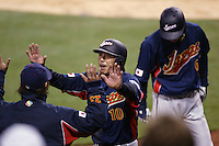 Shinya Miyamoto of Japan during World Baseball Championship at Angel Stadium in Anaheim,California on March 18, 2006. Photo by Larry Goren/Four Seam Images