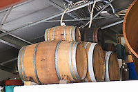 Domaine Coume del Mas. Banyuls-sur-Mer. Roussillon. Barrel cellar. France. Europe.