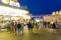 Summer visitors on the boardwalk, Seaside Heights, New Jersey