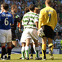 20/08/2005         Copyright Pic : James Stewart.File Name : jspa10 rangers v celtic.THE ASSISTANT REFEREE STEPS IN AS NEIL LENNON HAS A GO AT THE REFEREE AT THE END OF THE GAME.......Payments to :.James Stewart Photo Agency 19 Carronlea Drive, Falkirk. FK2 8DN      Vat Reg No. 607 6932 25.Office     : +44 (0)1324 570906     .Mobile   : +44 (0)7721 416997.Fax         : +44 (0)1324 570906.E-mail  :  jim@jspa.co.uk.If you require further information then contact Jim Stewart on any of the numbers above.........