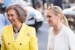 Queen Sofia and Mayor Madrid Region Cristina Cifuentes during the Red Cross Fundraising day event (Dia de la Banderita) in Madrid, Spain. October 02, 2015.<br /> (ALTERPHOTOS/BorjaB.Hojas)