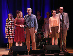 Hannah Elless, Stephen Bogardus, Emily Padgett and Jeff Bogardus with cast on stage during 'Bright Star' In Concert at Town Hall on December 12, 2016 in New York City.
