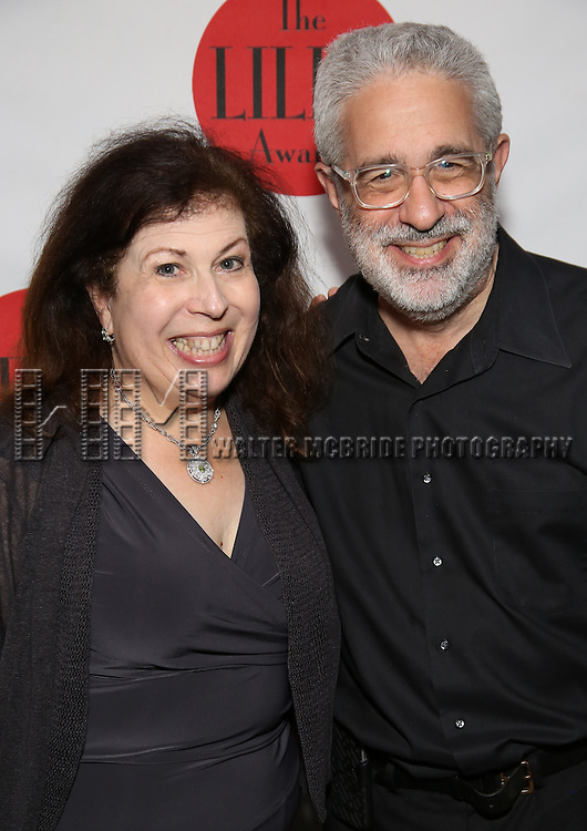 Winnie Holzman and David Evans attends The Lilly Awards Broadway Cabaret at the Cutting Room on October 17, 2016 in New York City.