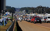 Nov. 1, 2009; Talladega, AL, USA; NASCAR Sprint Cup Series fans drive in traffic to the track prior to the Amp Energy 500 at the Talladega Superspeedway. Mandatory Credit: Mark J. Rebilas-