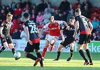 Fleetwood Town&rsquo;s Conor McAleny takes on Walsall's defence.<br /> <br /> Photographer Leila Coker/CameraSport<br /> <br /> The EFL Sky Bet League One - Fleetwood Town v Walsall - Saturday 5th May 2018 - Highbury Stadium - Fleetwood<br /> <br /> World Copyright &copy; 2018 CameraSport. All rights reserved. 43 Linden Ave. Countesthorpe. Leicester. England. LE8 5PG - Tel: +44 (0) 116 277 4147 - admin@camerasport.com - www.camerasport.com