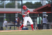 Roberto Moya (63) of Monsignor Edward Pace High School in Hialeah, Florida during the Under Armour Baseball Factory National Showcase, Florida, presented by Baseball Factory on June 12, 2018 the Joe DiMaggio Sports Complex in Clearwater, Florida.  (Nathan Ray/Four Seam Images)