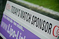 Sunday  14th   December 2014 <br /> Pictured: Match Sponsor board <br /> Re: Barclays Premier League Swansea City v Tottenham Hotspur  at the Liberty Stadium, Swansea, Wales,UK