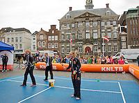 April 17, 2015, Netherlands, Den Bosch, Maaspoort, Fedcup Netherlands-Australia,  Street tennis with Kiki Bertens (NED)<br /> Photo: Tennisimages/Henk Koster