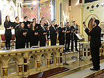 Choir singing at the Seminary Christmas concert in St Peter's Church.