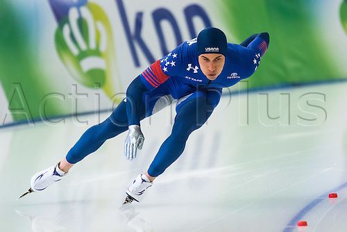 January 29th 2017, Sportforum, Berlin, Germany; ISU Speed Skating World Cup;  ISU Speed Skating World Cup 1000m Division A; Kimani Griffin (USA)