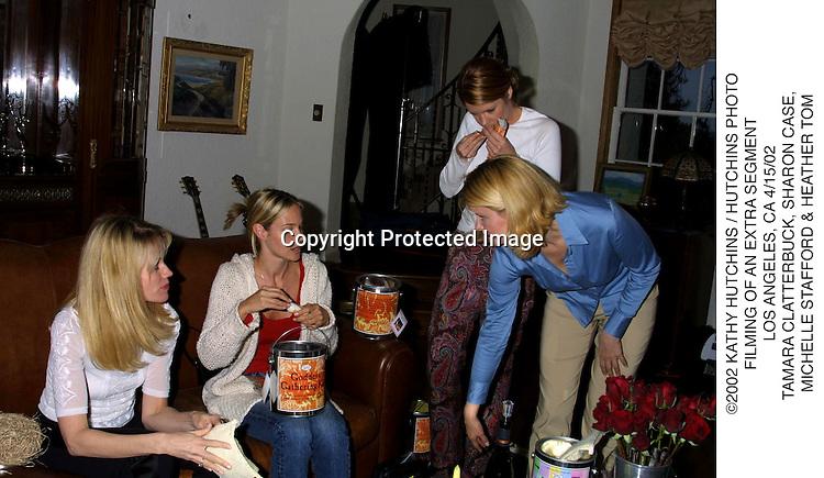 ©2002 KATHY HUTCHINS / HUTCHINS PHOTO.FILMING OF AN EXTRA SEGMENT.LOS ANGELES, CA 4/15/02.TAMARA CLATTERBUCK, SHARON CASE, .MICHELLE STAFFORD & HEATHER TOM