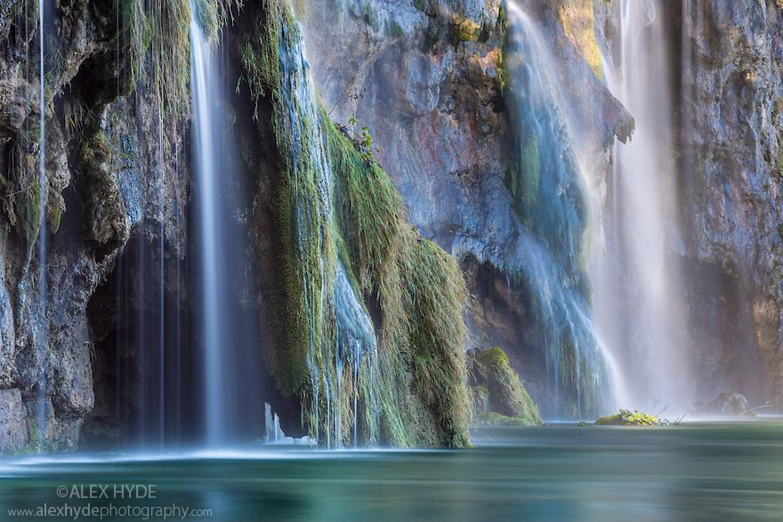 Jezero Galovac waterfall, Plitvice Lakes National Park, Croatia. November.